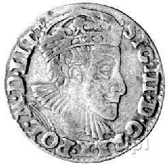 trojak 1589, Olkusz, Kurp. 556 R, Wal. X 3, na końcu na...