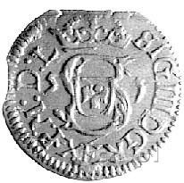 szeląg 1615, Wilno, Kurp. 1973 R3, omyłkowa data 5-1, o...