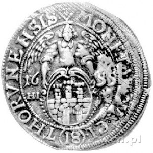 ort 1655, Toruń, drugi egzemplarz, moneta wybita tym sa...