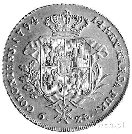 talar 1794, Warszawa, Plage 373, Dav. 1623, patyna