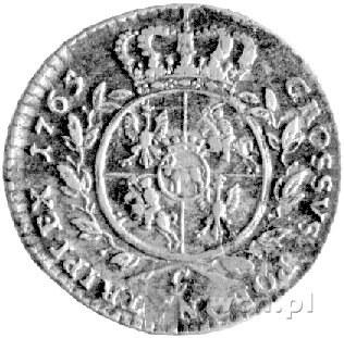 trojak 1765, Kraków, Plage 141, popiersie króla w zbroi