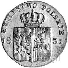 10 groszy 1831, Warszawa, Plage 279, łapy orła zgięte, ...