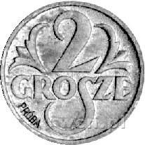 2 grosze 1939, na rewersie wklęsły napis PRÓBA, Parchim...