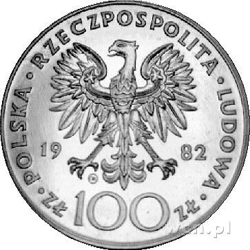 100 złotych 1982, Szwajcaria, II wizyta papieża Jana Pa...