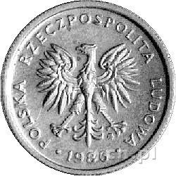2 złote 1986, na rewersie napis PRÓBA, Parchimowicz P. ...