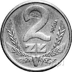 2 złote 1987, na rewersie napis PRÓBA, Parchimowicz nie...
