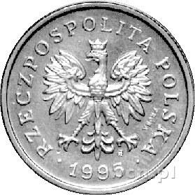 1 złoty 1995, na awersie napis PRÓBA, Parchimowicz nie ...