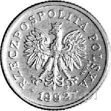 20 groszy 1992, na awersie napis PRÓBA, Parchimowicz ni...