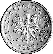 20 groszy 1995, na awersie napis PRÓBA, Parchimowicz ni...
