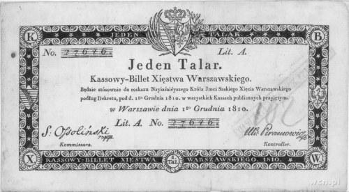 1 talar 1.12.1810, podpis: Ossoliński, Pick A12