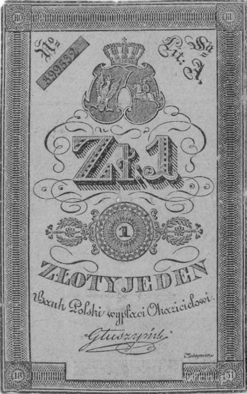1 złoty, podpis: Głuszyński, Pick A22
