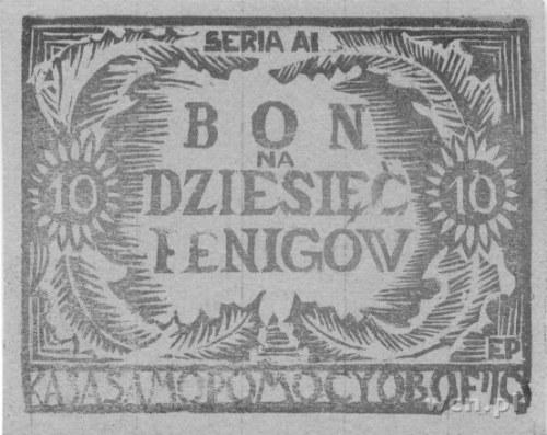 Woldenberg- oflag IIc, 10 fenigów seria AI, 50 fenigów ...