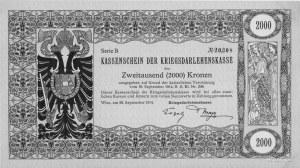 2.000 koron- pożyczka wojenna 26.09.1914, Pick 27