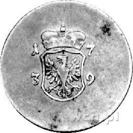 Śląsk- odważnik jednego dukata 1739 r., Aw: Orzeł w tar...