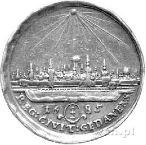 medal autorstwa Jana Höhna jun. wybity w 1685 r. w Gdań...