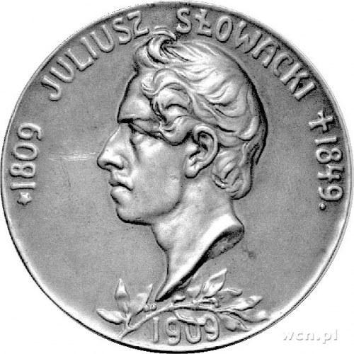 medal wybity w 1909 r w setną rocznicę śmierci Juliusza...