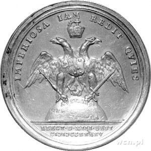medal autorstwa Vestnera wybity z okazji wyboru cesarza...