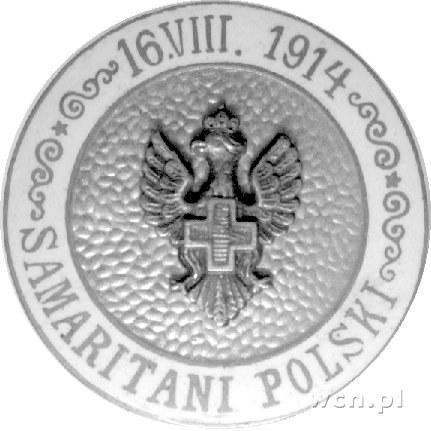 odznaka pamiątkowa Samarytan Polskich 1914 r.; Orzeł z ...