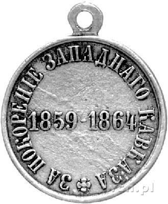 medal nagrodowy za pacyfikację Zachodniego Kaukazu 1864...