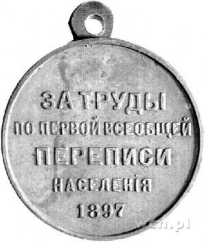 medal nagrodowy za prace przy pierwszym spisie ludności...