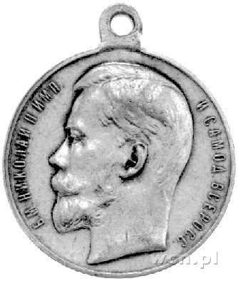 medal św. Jerzego Za Męstwo lata 1915-1916, Aw: Głowa M...