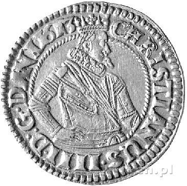 Krystian IV 1588-1648 - 1 marka 1613, Hede 99.A, piękny...