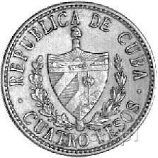 4 pesos 1916, Fr. 5, złoto, 6,68 g.
