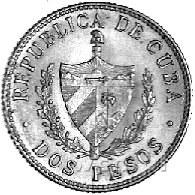 2 pesos 1916, Fr. 6, złoto, 3,34 g.