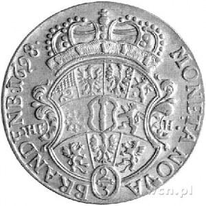 gulden 1698, Magdeburg, Aw: Popiersie, Rw: Wielopolowa ...