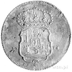 gulden 1714, Berlin, Aw: Popiersie, Rw: Wielopolowa tar...
