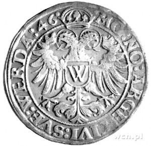 talar 1546, Aw: Orzeł cesarski z literą W na tarczy, Rw...