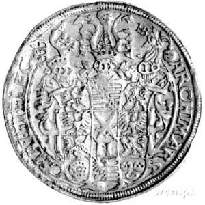 talar 1560, Aw: Popiersie, Rw: Wielopolowa tarcza herbo...