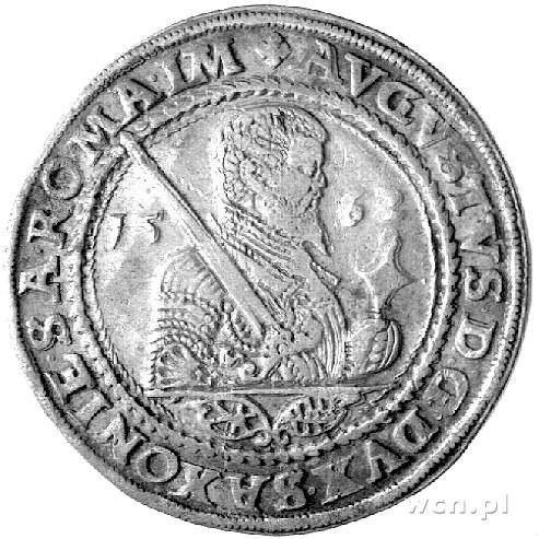 talar 1562, Aw: Popiersie, Rw: Wielopolowa tarcza herbo...