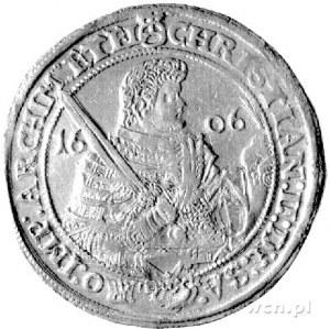 talar 1606, Aw: Półpostać, Rw: Popiersia dwóch braci, D...
