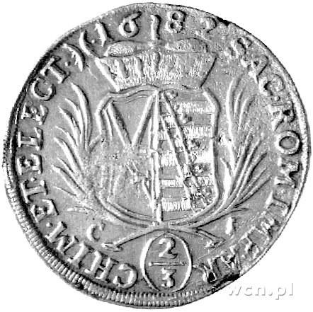 gulden 1682, Aw: Popiersie, Rw: Tarcza herbowa, literki...