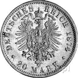 20 marek 1900, Monachium, J. 200, złoto, 7,96 g.