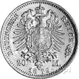 20 marek 1872, Frankfurt, J. 243, złoto, 7,96 g.