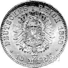 10 marek 1888, Berlin, J. 245, złoto, 3,99 g.