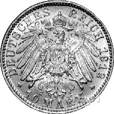 10 marek 1912, Berlin, J. 251, złoto, 3,99 g.