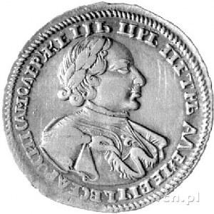 połtina 1720, Moskwa, Aw: Popiersie bez znaku medaliera...