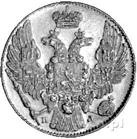 5 rubli 1833, Petersburg, Uzdenikow 0208, Fr. 138, złot...