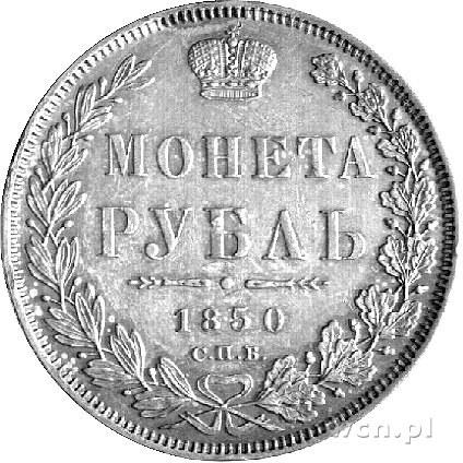 rubel 1850, Petersburg, Uzdenikow 1678