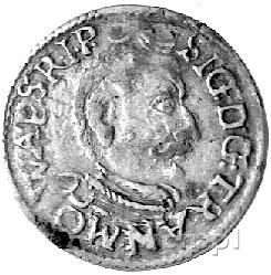 Zygmunt Batory 1581-1602 - trojak 1597, Aw: Popiersie, ...