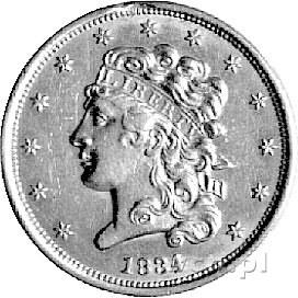 5 dolarów 1834, Filadelfia, Fr. 135, złoto, 8,33 g., rz...