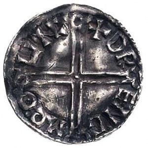 denar-długi krzyż, Lincoln, Aw: Popiersie w diademie i ...