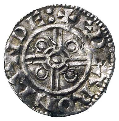 denar-typ hełm, Londyn, Aw: Popiersie w hełmie i płaszc...