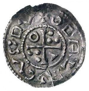 Oldrich 1012-1032, denar, Aw: Popiersie w lewo i napis,...