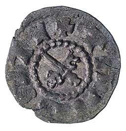Dorpat- biskupstwo, denar bez daty (artig) XV/XVI w., A...