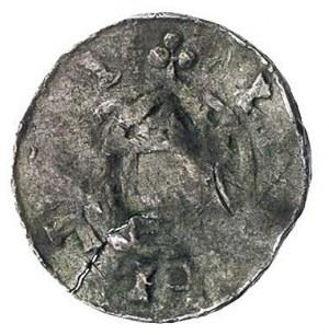 naśladownictwo denara, 17.3 mm, 1.31 g, lekko pęknięty