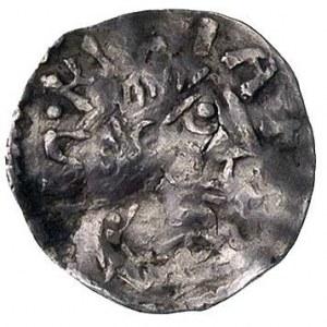 cesarz i król Otto III 983-1002, denar, Aw: Krzyż i nap...